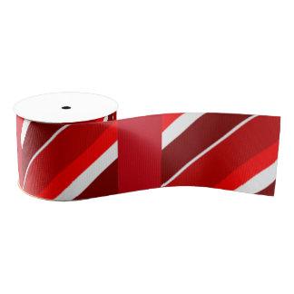 クリスマスの赤く、ストライプなギフトのリボン グログランリボン