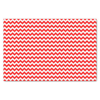 クリスマスの赤と白のシェブロンパターンカスタム 薄葉紙