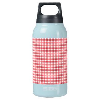 クリスマスの赤と白の格子縞パターン 断熱ウォーターボトル