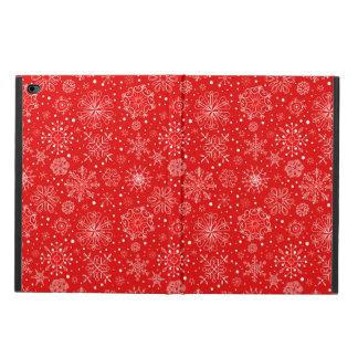 クリスマスの赤の白い雪片 POWIS iPad AIR 2 ケース