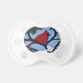 クリスマスの赤の(鳥)ショウジョウコウカンチョウ おしゃぶり