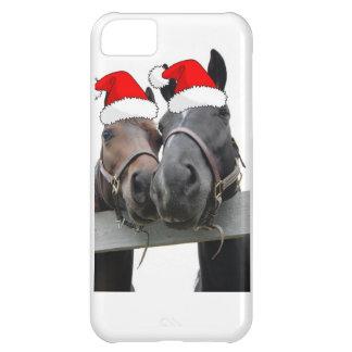 クリスマスの農場馬 iPhone5Cケース