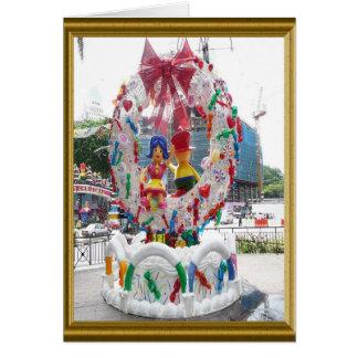 クリスマスの通りの装飾 カード