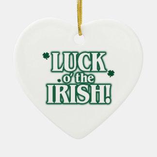 クリスマスの運oアイルランド人 セラミックオーナメント
