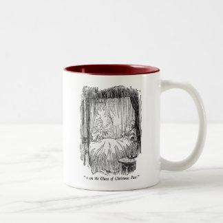 クリスマスの過去(文字と) ツートーンマグカップ