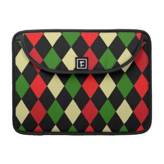 クリスマスの道化師の幾何学的なパターン MacBook PROスリーブ