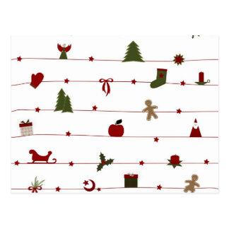 クリスマスの郵便はがき! ポストカード