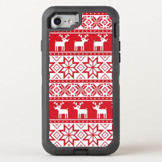 クリスマスの醜いセーターのiPhone 7 オッターボックスディフェンダーiPhone 8/7 ケース