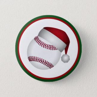 クリスマスの野球 5.7CM 丸型バッジ