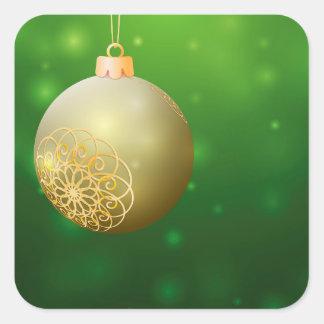 クリスマスの金球 スクエアシール