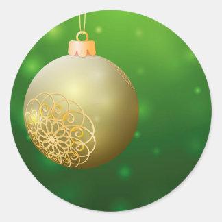 クリスマスの金球 ラウンドシール