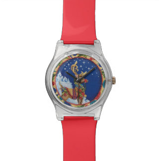 クリスマスの針先フレームのサンタのトナカイの腕時計 腕時計