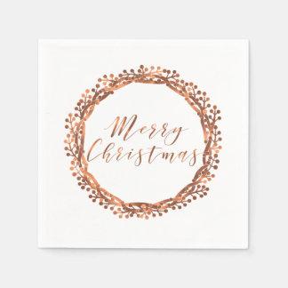 クリスマスの銅一見の果実のリースはカスタム設計します スタンダードカクテルナプキン