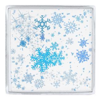 クリスマスの降雪 シルバー ラペルピン