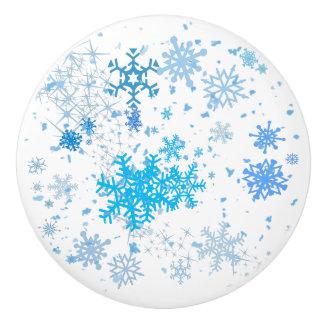 クリスマスの降雪 セラミックノブ