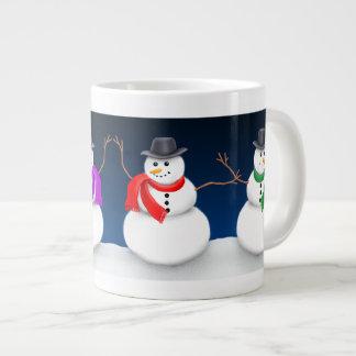 クリスマスの雪だるまのジャンボマグ ジャンボコーヒーマグカップ