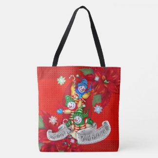 クリスマスの雪だるまのトートのかわいい漫画のトートバック トートバッグ
