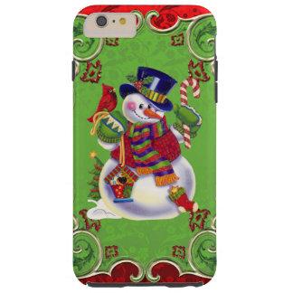 クリスマスの雪だるまのiPhone 6のプラスのVibeの場合 Tough iPhone 6 Plus ケース
