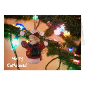 クリスマスの雪だるま カード