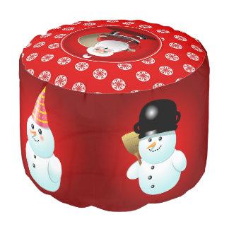 クリスマスの雪だるま プーフ