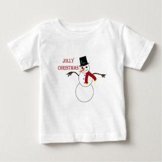 クリスマスの雪だるま ベビーTシャツ