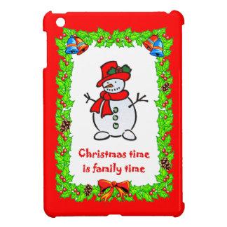 クリスマスの雪だるま iPad MINIケース