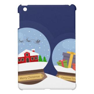 クリスマスの雪の地球およびサンタクロースの現在 iPad MINIカバー