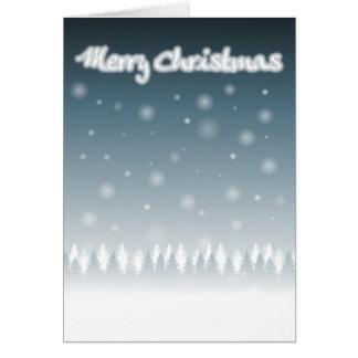 クリスマスの雪場面2010年 カード