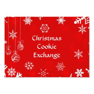 クリスマスの雪片のクッキー交換 カード