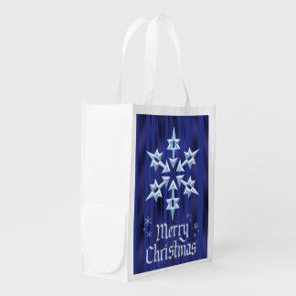 クリスマスの雪片のクリスマスのプレゼントのバッグ エコバッグ