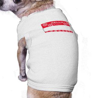 クリスマスの雪片の名前をカスタムする犬の小さいワイシャツ ペット服