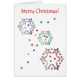 クリスマスの雪片の星 カード