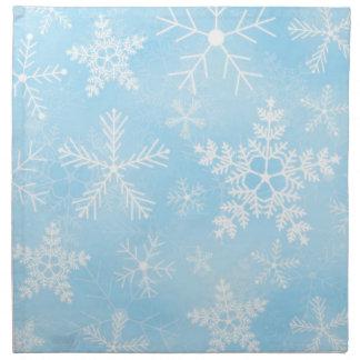 クリスマスの雪片パターン ナプキンクロス