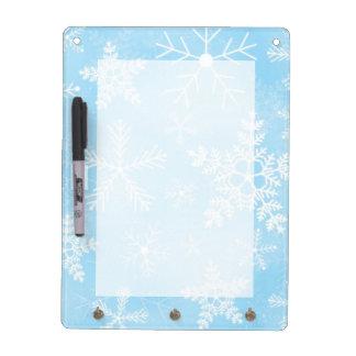 クリスマスの雪片パターン ホワイトボード
