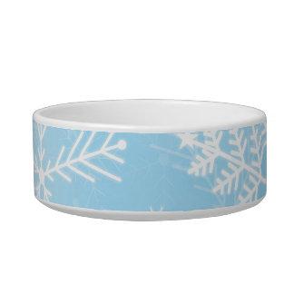 クリスマスの雪片パターン ボウル