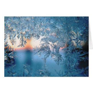 クリスマスの雪片 カード