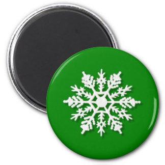 クリスマスの雪片 マグネット