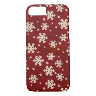 クリスマスの雪片 iPhone 8/7ケース
