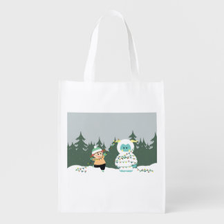 クリスマスの雪男 エコバッグ
