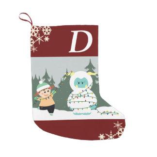 クリスマスの雪男 スモールクリスマスストッキング