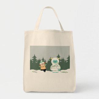 クリスマスの雪男 トートバッグ