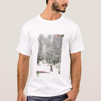 クリスマスの雪 Tシャツ