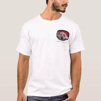 クリスマスの静かに上塗を施してあるWheatenテリア Tシャツ