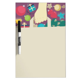 クリスマスの願いの買物をする紙袋 ホワイトボード