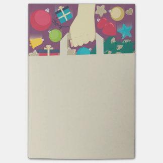 クリスマスの願いの買物をする紙袋 ポストイット