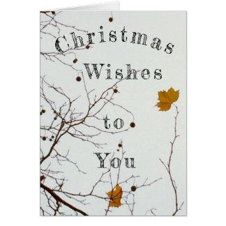 クリスマスの願い カード
