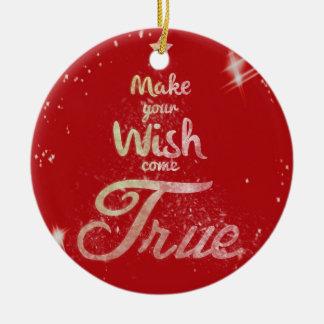 クリスマスの願い セラミックオーナメント