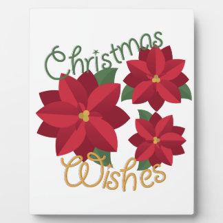 クリスマスの願い フォトプラーク