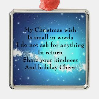 クリスマスの願い メタルオーナメント