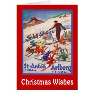 クリスマスの願い、Stアントン、オーストリア カード